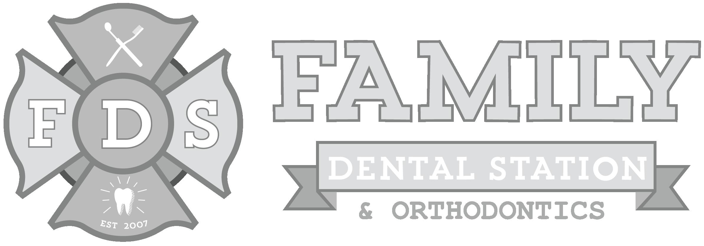 family dentist family dental station glendale scottsdale sun city west az white logo